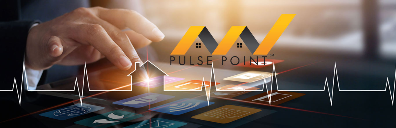 hand pressing pulse point logo on smart phone